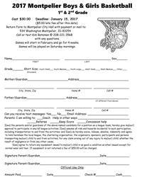 Girls Basketball sign-up