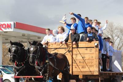 Preston BBB rides in on horses