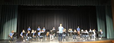 High School Concert Band combines with Junior High Band