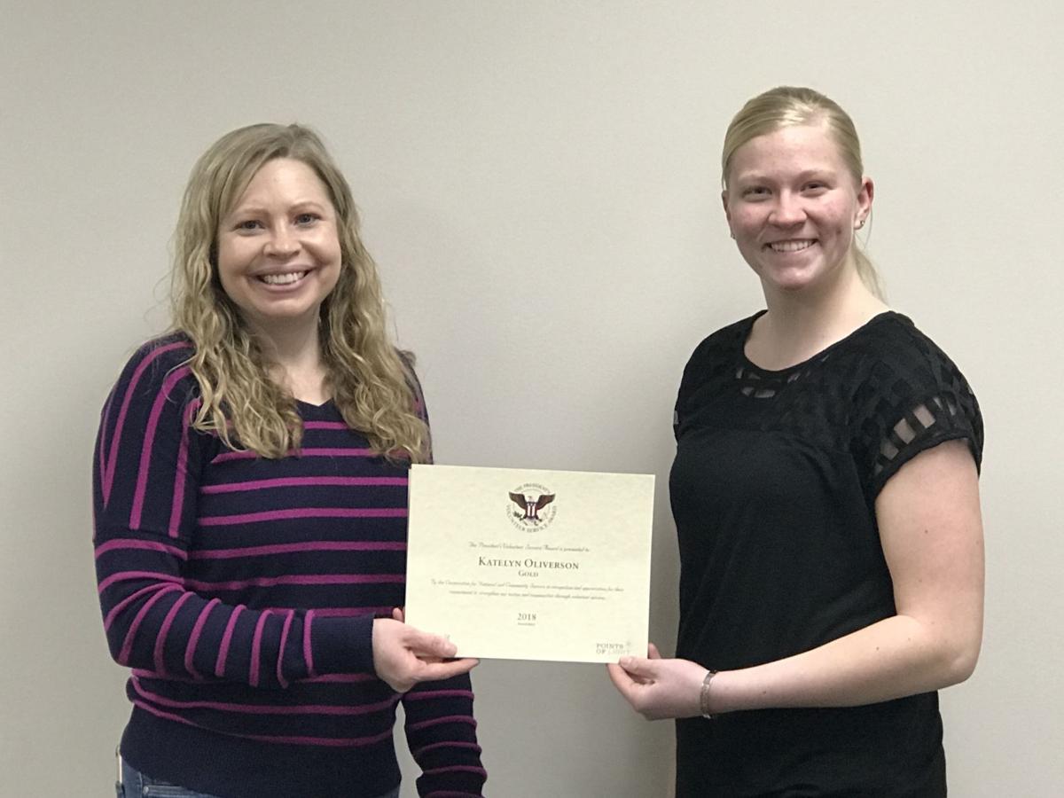 Oliverson receives President's Volunteer Service Award