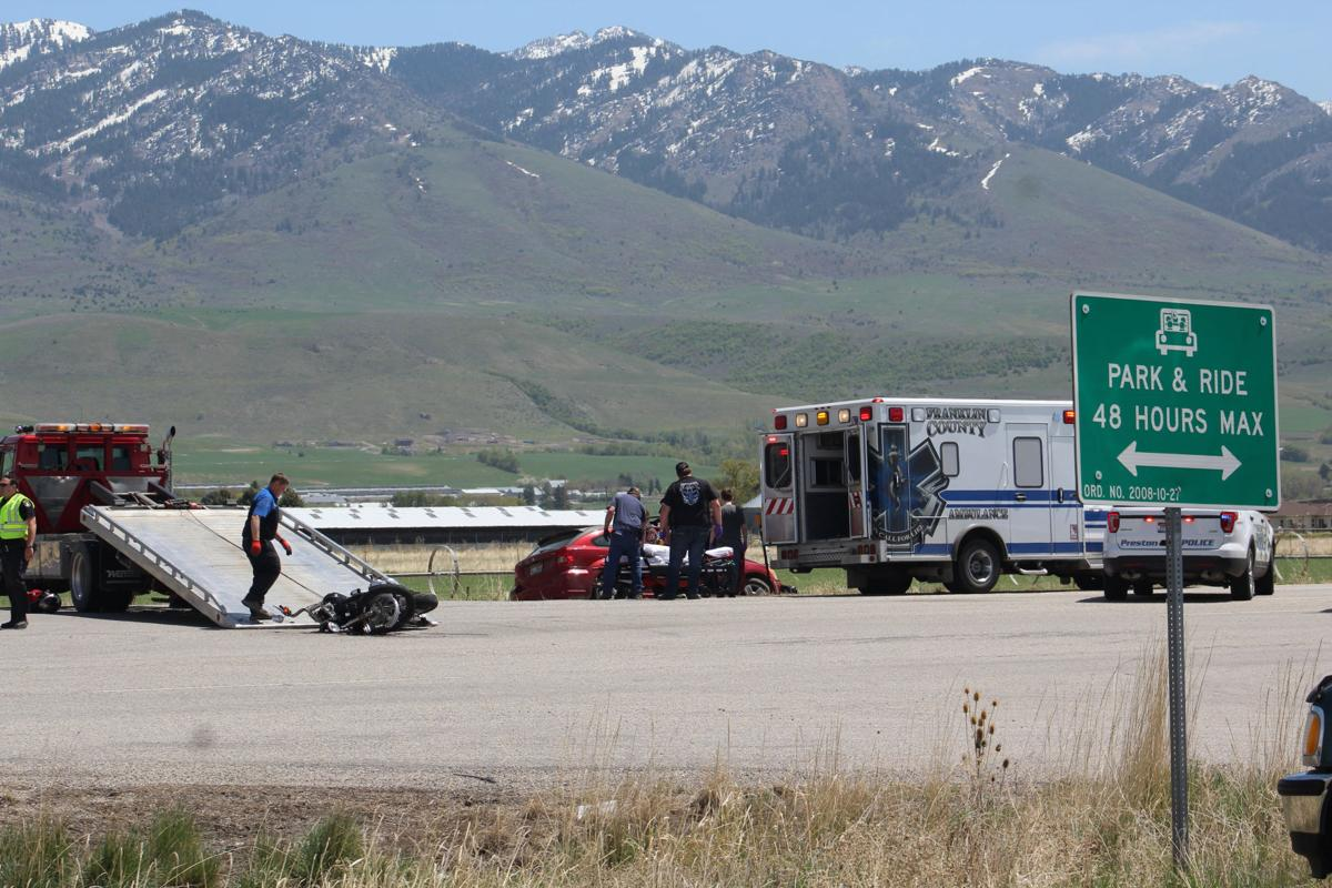 Car, motorcycle collide at Cub River turn-off