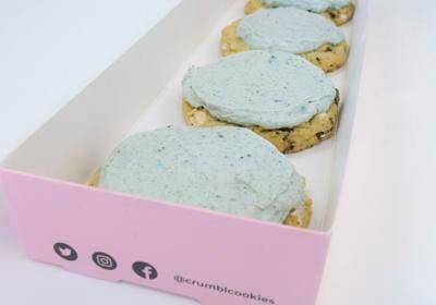 blue mint cookies