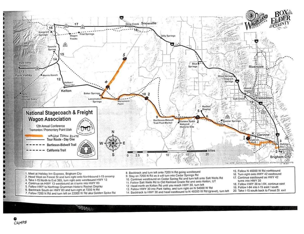 Wagon Train route map