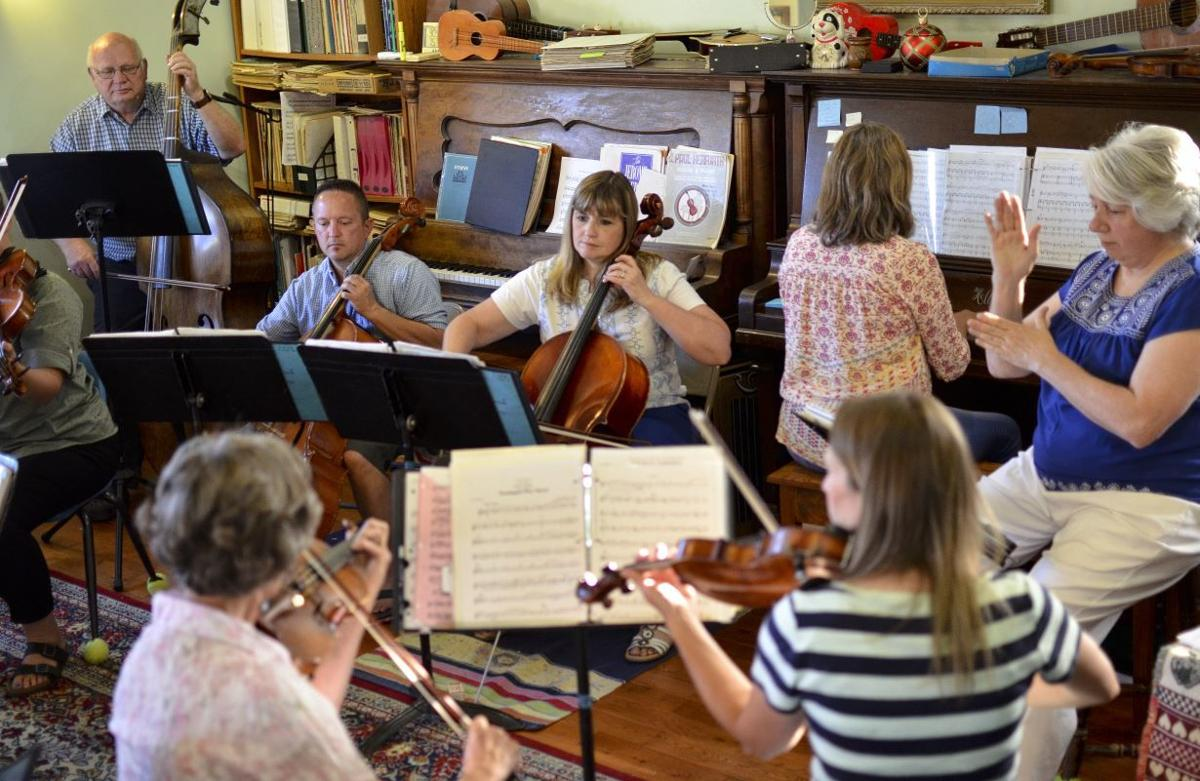 Sagebrush Strings prepare for an evening of music in the park