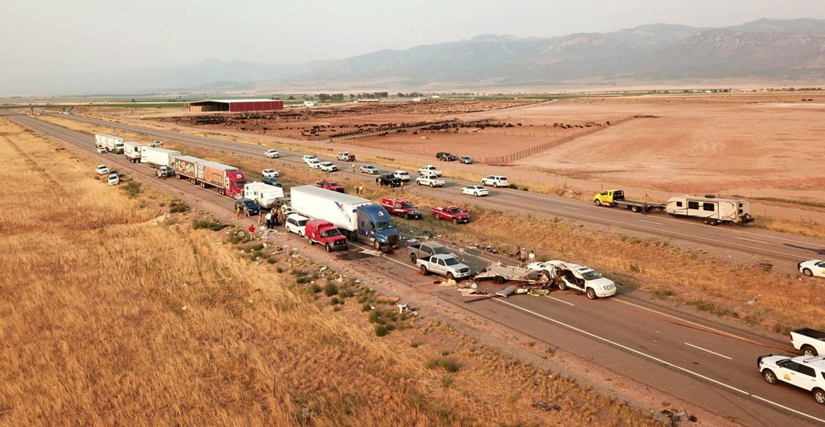 At least 8 killed in 22-car pileup in Utah during sandstorm