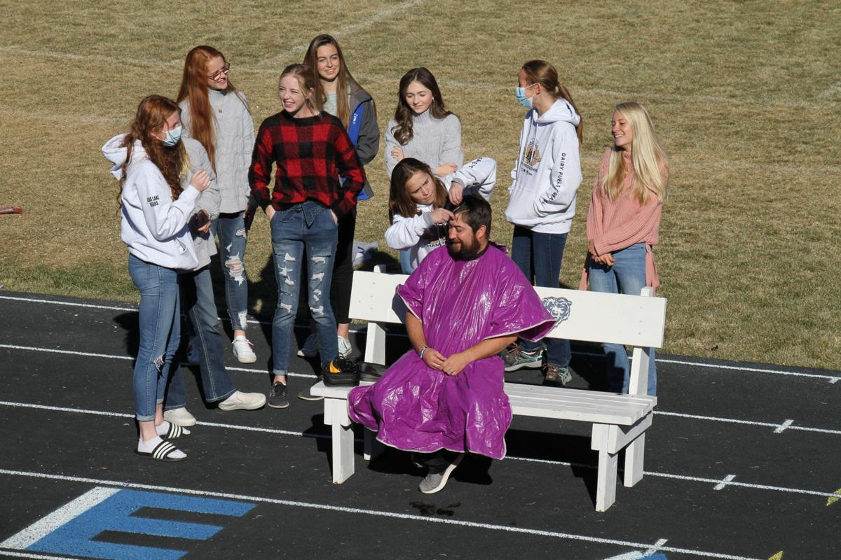 Bear Lake  Cross Country Coaches get shaved