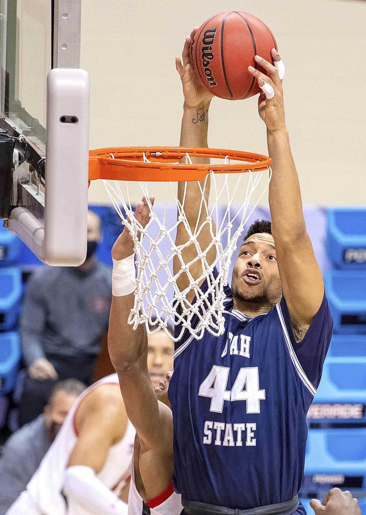 Texas Tech Utah St Basketball Anthony