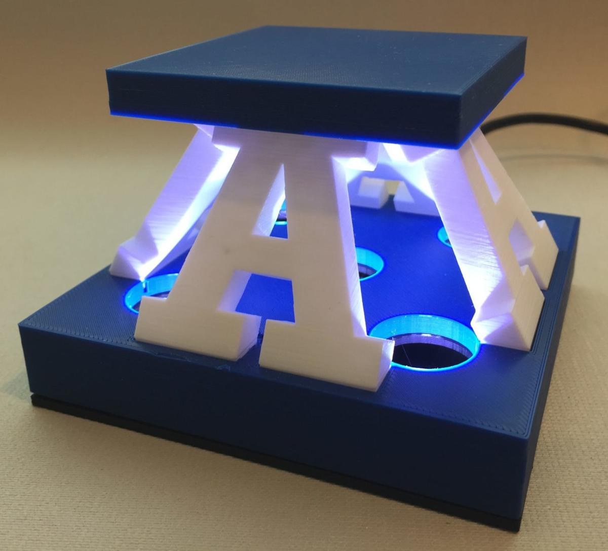 Light the A: USU brothers build internet-connected Aggie memorabilia