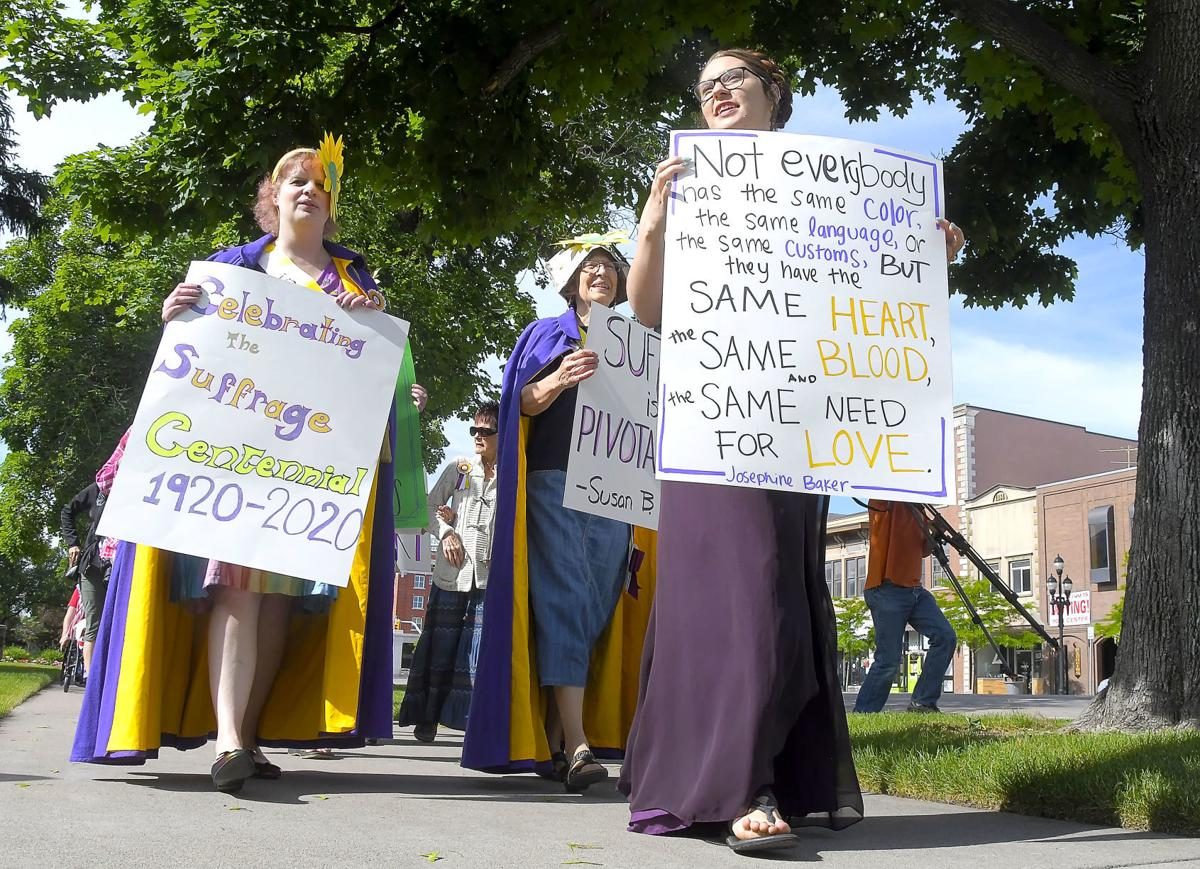 Marching for the vote: USU students organize suffrage march enactment as part of an annual conference
