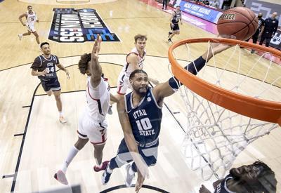 Utah St Texas Tech Basketball Anderson