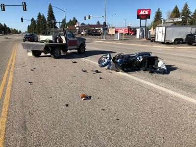 motorcycle struck by pickup