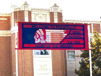 Pocatello High School Indians sign