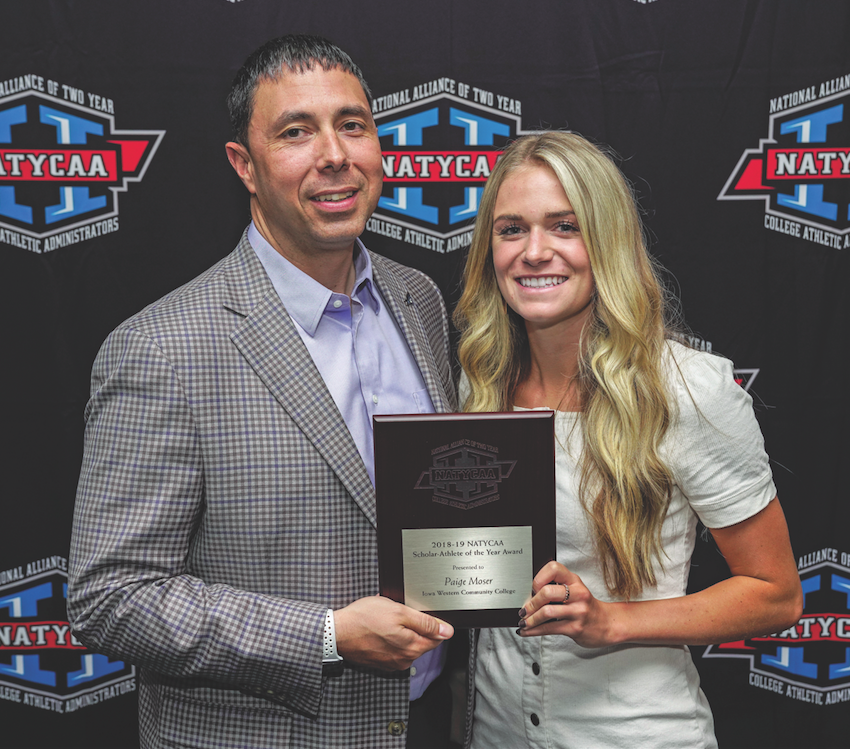 Moser honored as Scholar-Athlete of the Year
