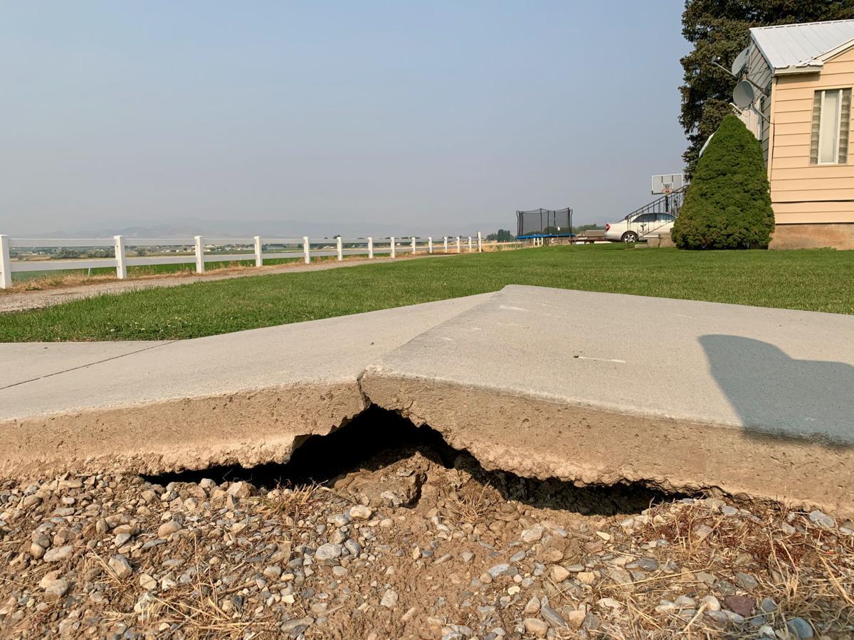 Concrete buckles under high temperatures