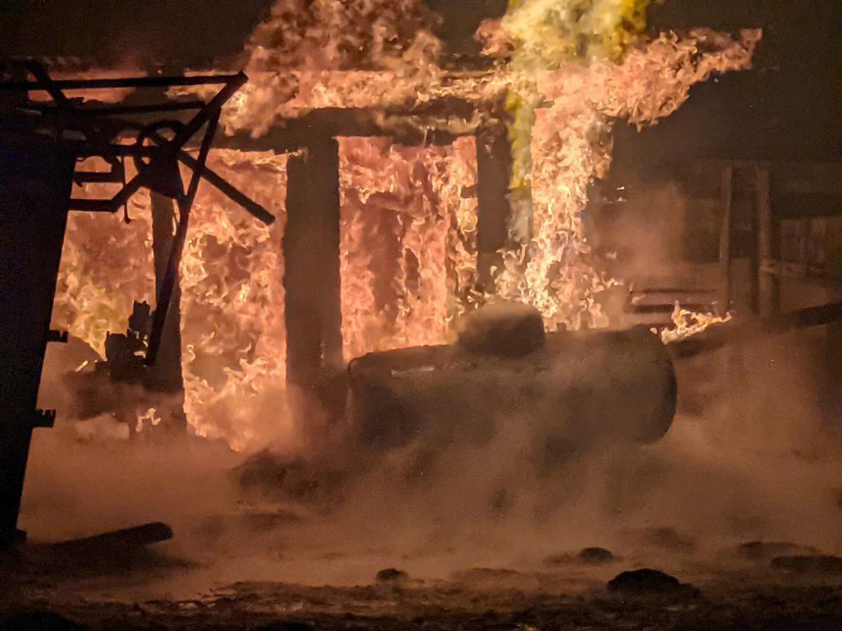 Late night fire in Bear Lake County