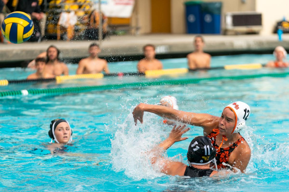 Jess Palmer-Sammons shoots the ball at the Terra Nova goal