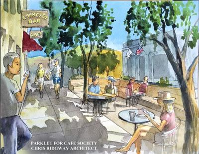 Proposed parklet on Main Street
