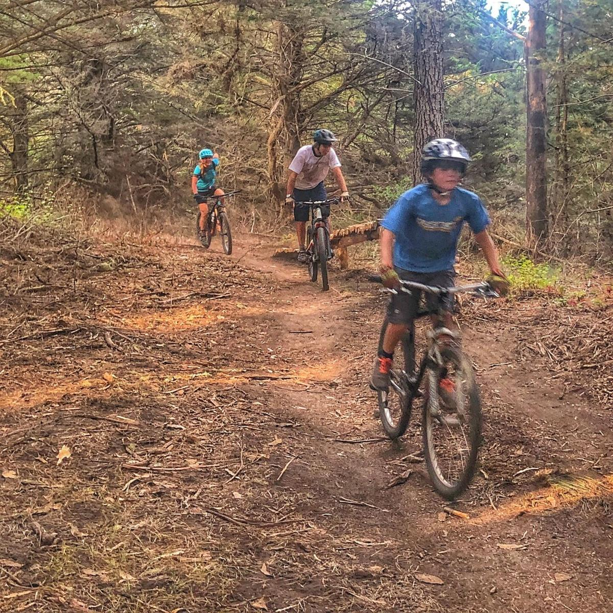 Mountain Bikers ride from pre-covid times