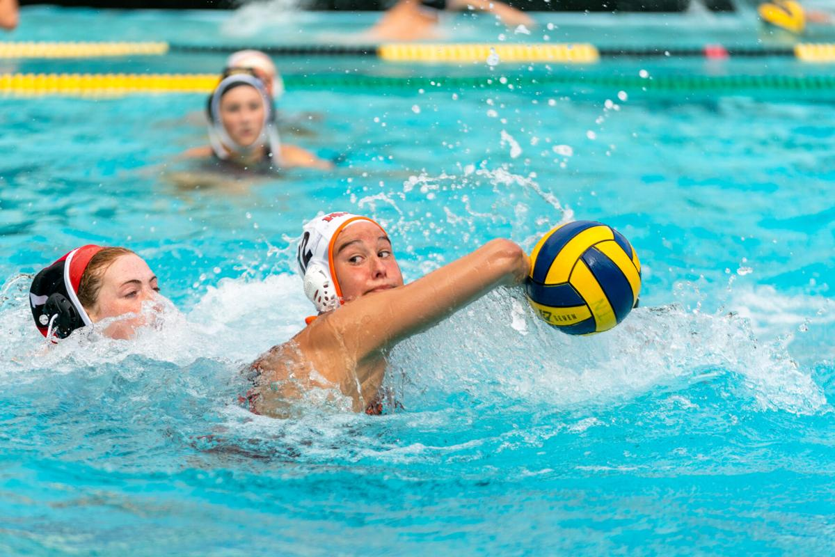 Jess Palmer-Sammons spin shoots the ball at the Terra Nova goal