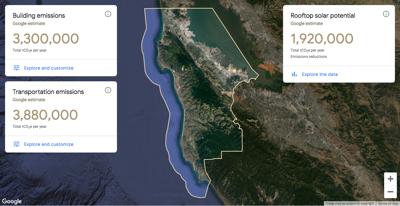 Google climate map San Mateo County