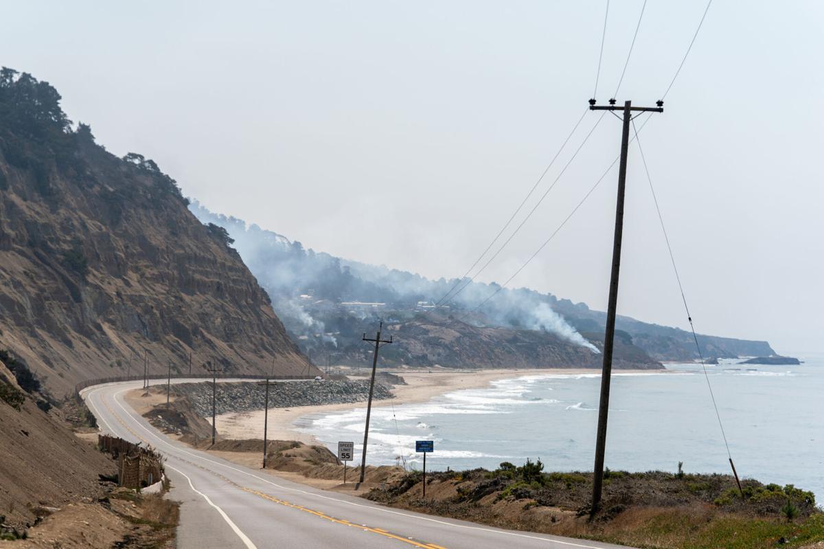 Big Creek Lumber at Waddell Creek during CZU Fires