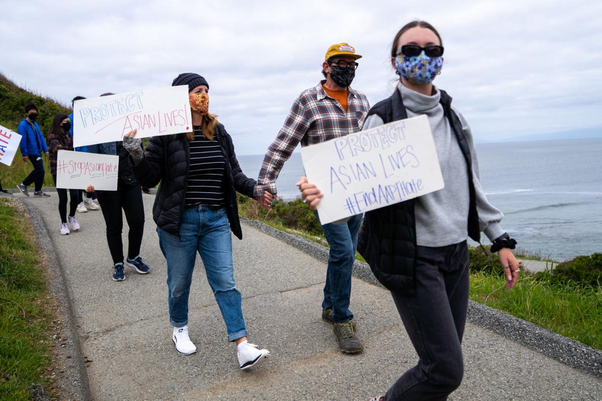 AAPI Protest into Rockaway Beach