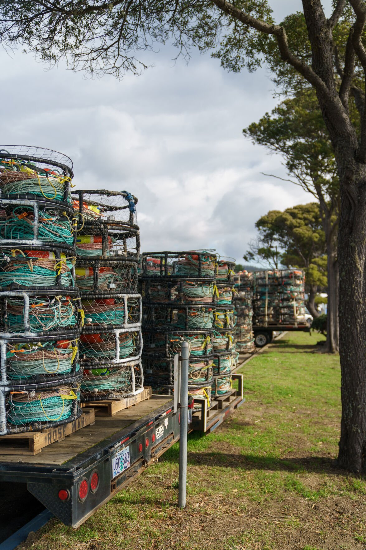 Crab Pots in parking lot
