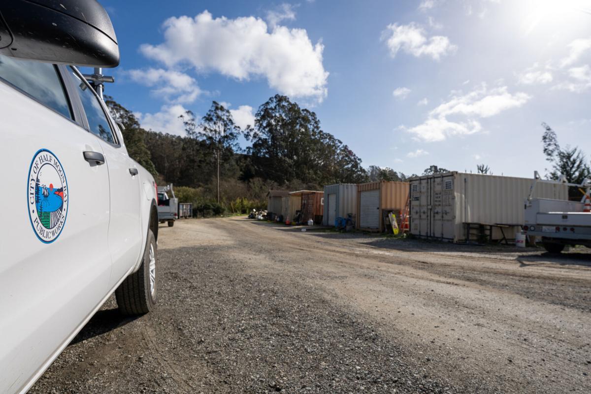 Public Works vehicles and storage units