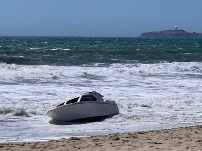 Boat washes ashore