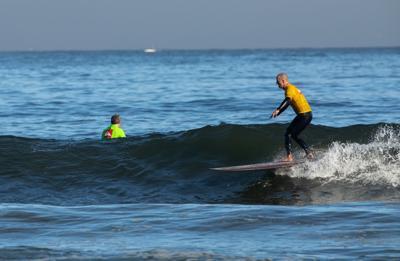 Mark Shotwell surfing in Kahuna Kupuna
