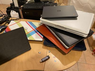 Nilay Patel's Chromebooks