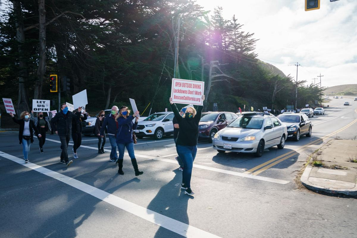 Protest across Highway 1