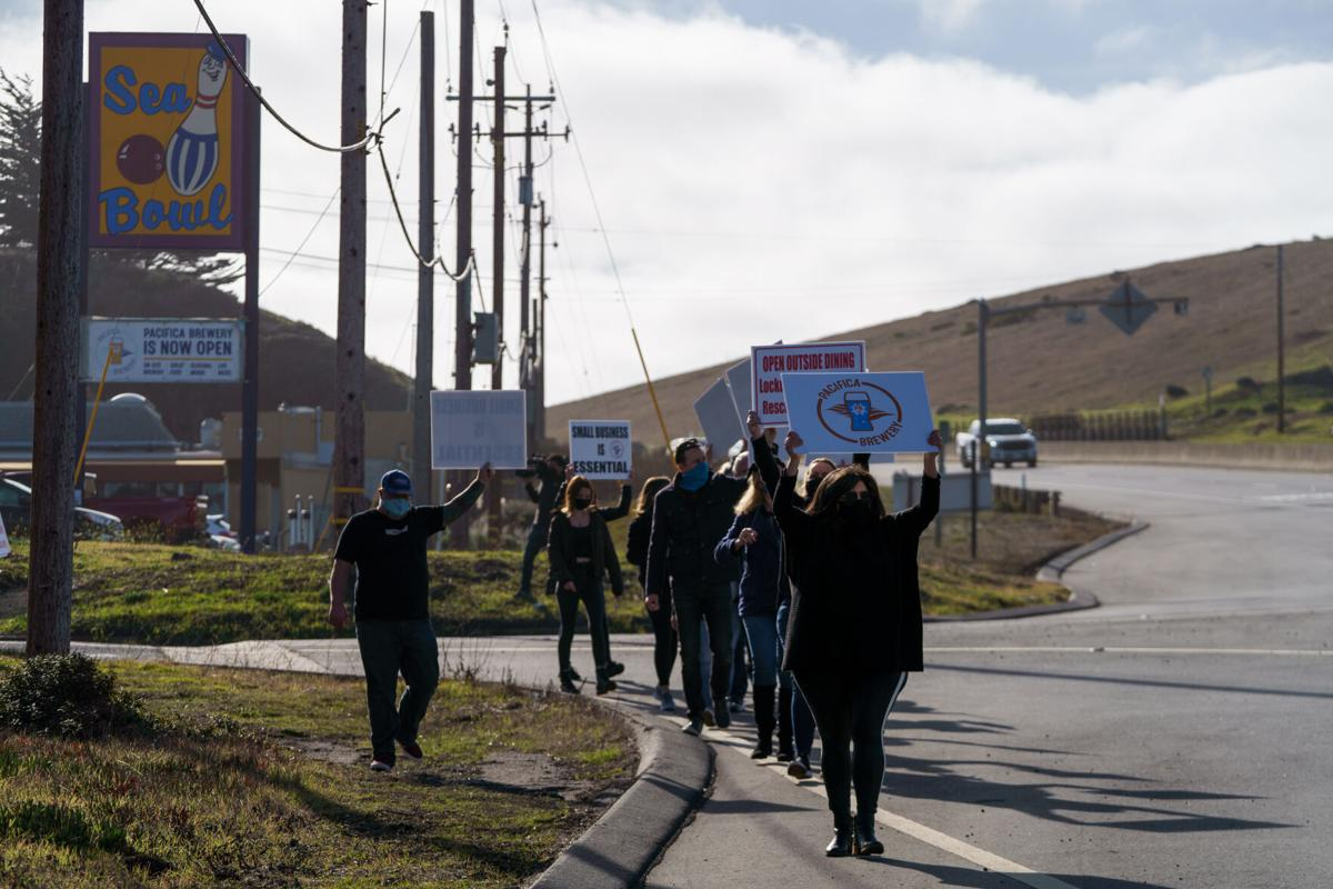 Small Business Protest Along Highway 1