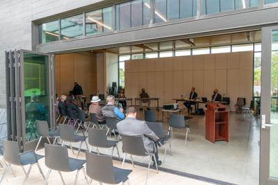 Public Safety in-person meeting at the library