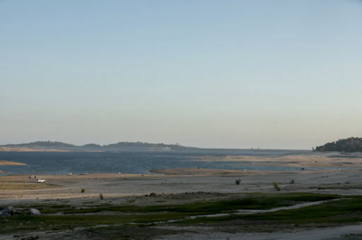 Lake Folsom during drought