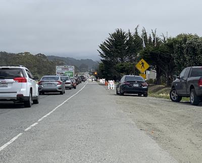 Traffic jam continues