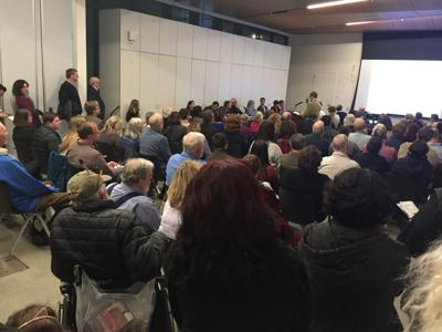 A proposed affordable housing project draws crowd
