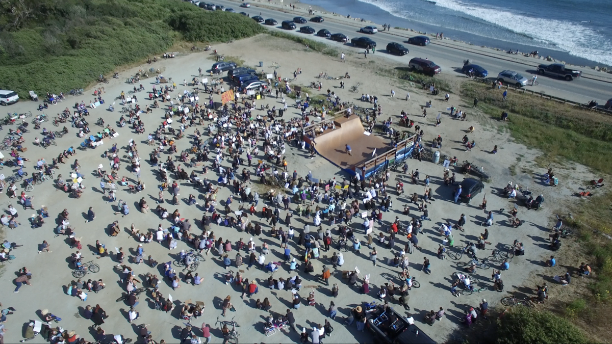 Surfers Beach Protest