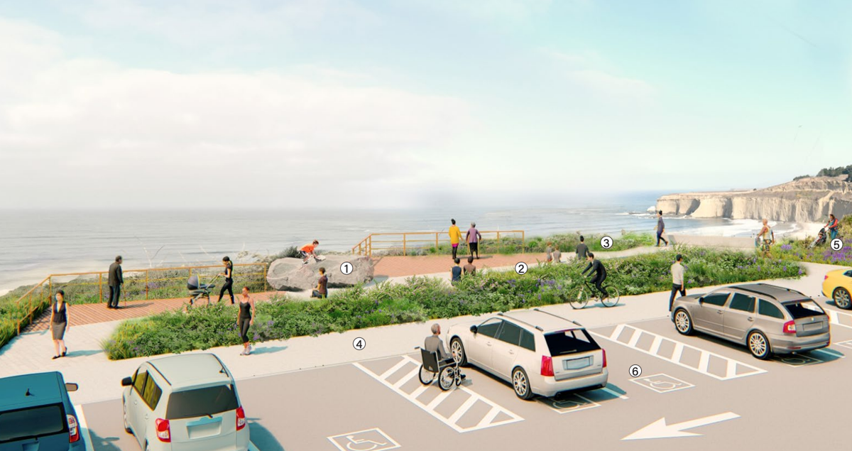 An artistic rendering of Tunitas Creek Beach