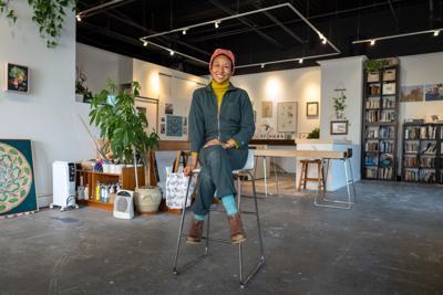 Jane Kim inside her Studio