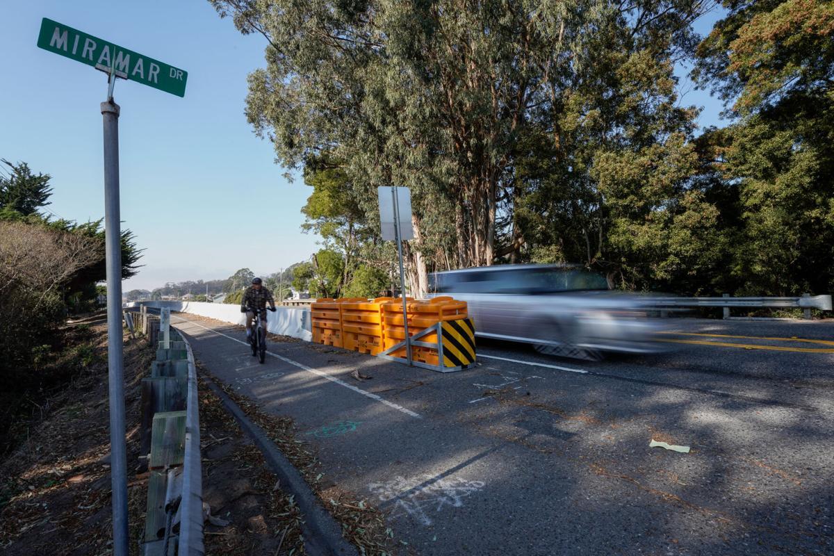 Bikes on Highway 1 Shoulder