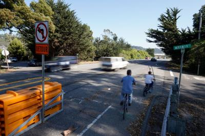 Bicycles on the Medio Bridge Detour