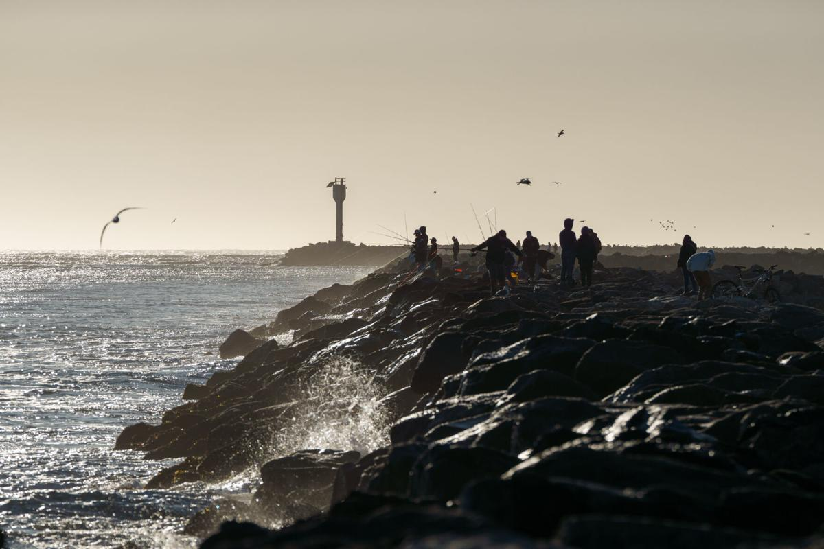 Fishing on the jetty