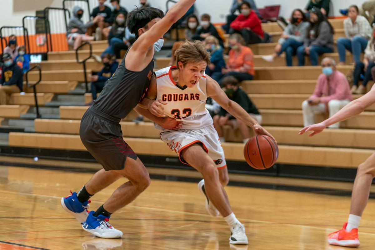 Sean Ediger makes a play towards the basket