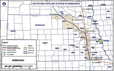 Oneill Nebraska Map.Transcanada Crews Surveying Route In Holt Antelope Counties News