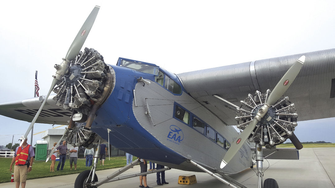 """Ford's Tri-Motor aircraft was nicknamed the """"Tin Goose"""" and was designed to build another new market: airline travel."""