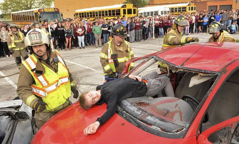 Actions and consequences: Simulated crash teaches Winamac HS students about drunken-driving dangers