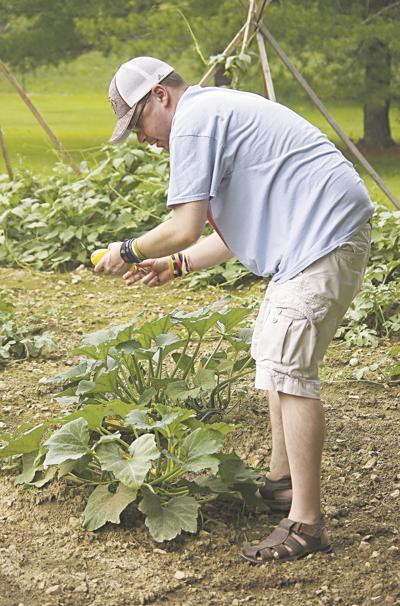 Josh Gentry in the garden