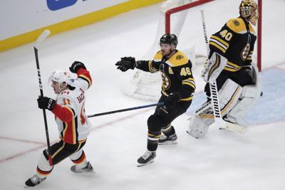 Flames Bruins Hockey