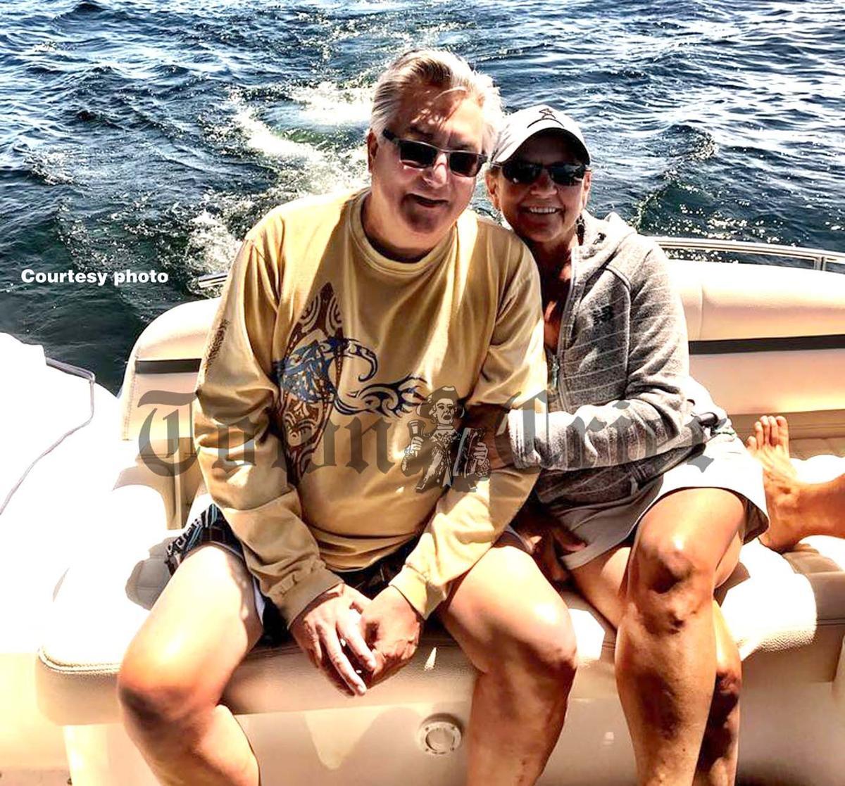 Mark and Diane Brown on Lake Winnipesaukee
